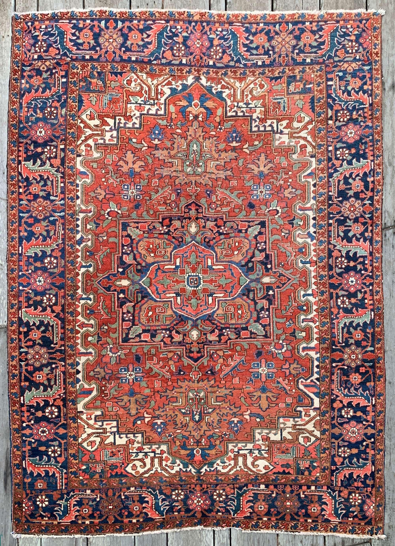 Antique Persian Heriz Rug 7 10 X10 10 In 2020 Antique Persian Rug Persian Heriz Rug Vintage Persian Rug