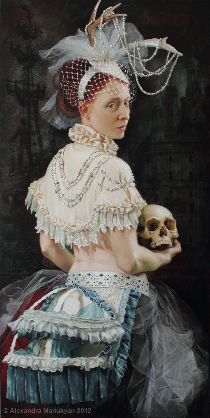 """Silence of Solace""  By Alexandra Manukyan, oil on canvas."