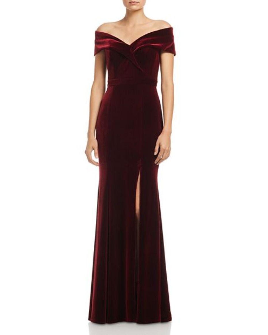 45++ Long burgundy velvet dress info