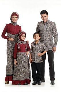 Foto Baju Batik Couple Ayah Ibu Dan Anak Semi Formal Batik For
