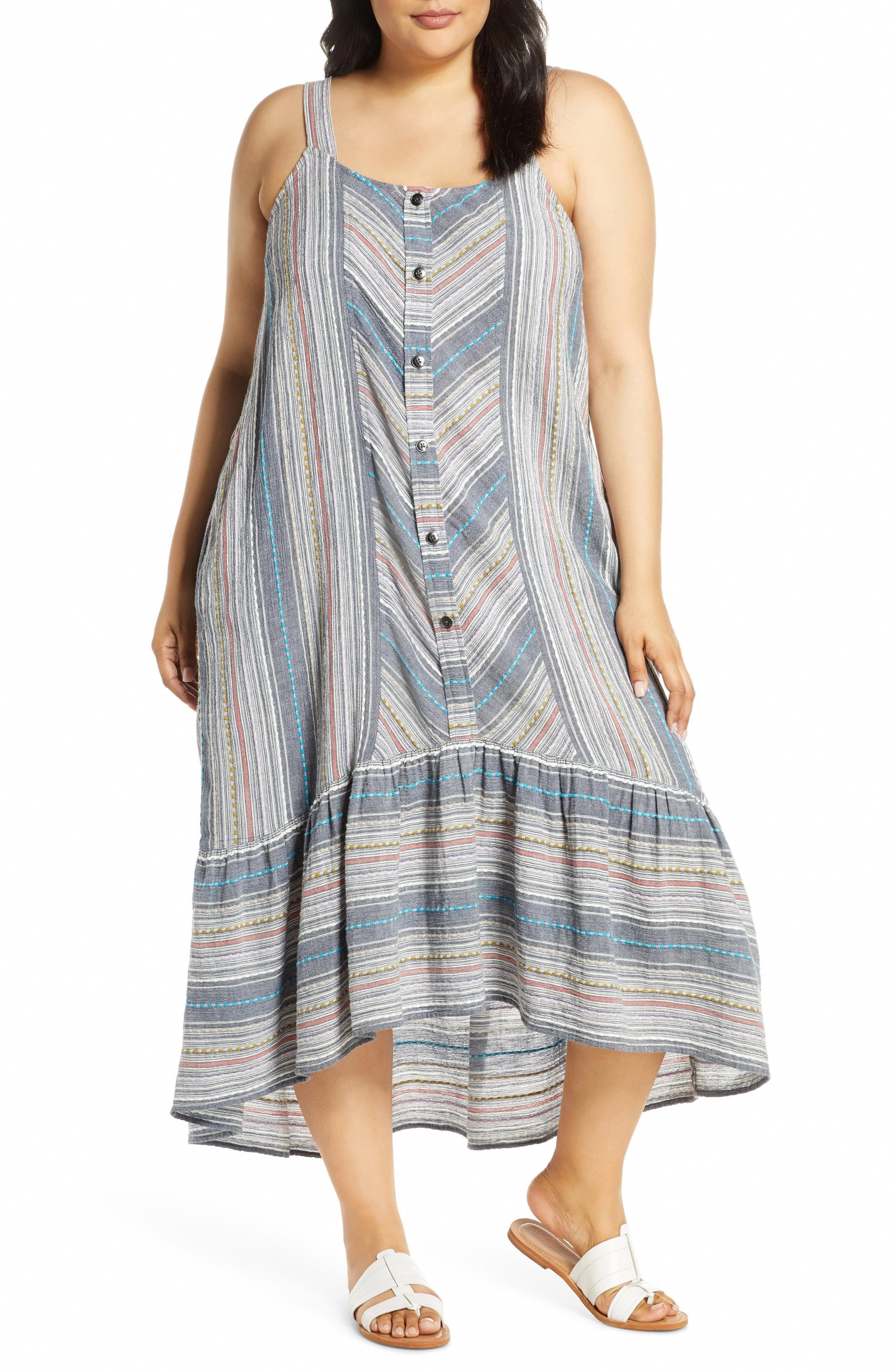 Plus Size Women S Caslon Stripe High Low Cotton Maxi Dress Size 2x Blue Plussizefashionforwomendresses Maxi Dress Cotton Plus Size Maxi Dresses Cotton Maxi [ 4048 x 2640 Pixel ]