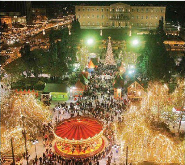 Christmas in Syntagma Square, 2004