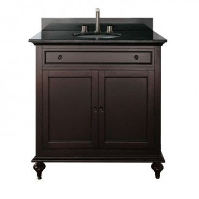 """Avanity Merlot 24"""" Vanity Cabinet in Espresso adds a touch of elegance to your bathroom that will work with traditional or transitional decor. The rich espresso finish is over a solid birch with a veneer construction. The cabinet offers soft-close hinges and a drawer(s) for storage. This vanity allows you to pick from multiple marble or stone countertops for a custom design"""