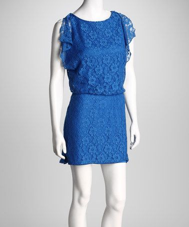 Royal Blue Eyelet Dress
