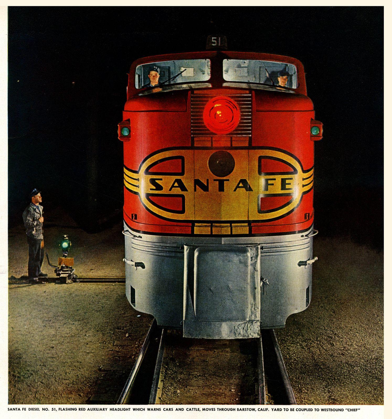 Santa Fe Number 51 Model Trains Santa Fe Vintage Train