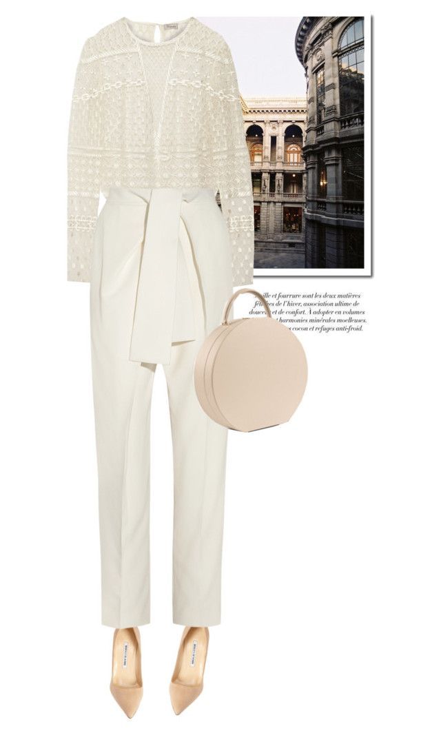 Monochrome by galina-gavrailova on Polyvore featuring polyvore, fashion, style, Temperley London, Chloé, Manolo Blahnik, Spring, monochrome, Spring2015 and buwood
