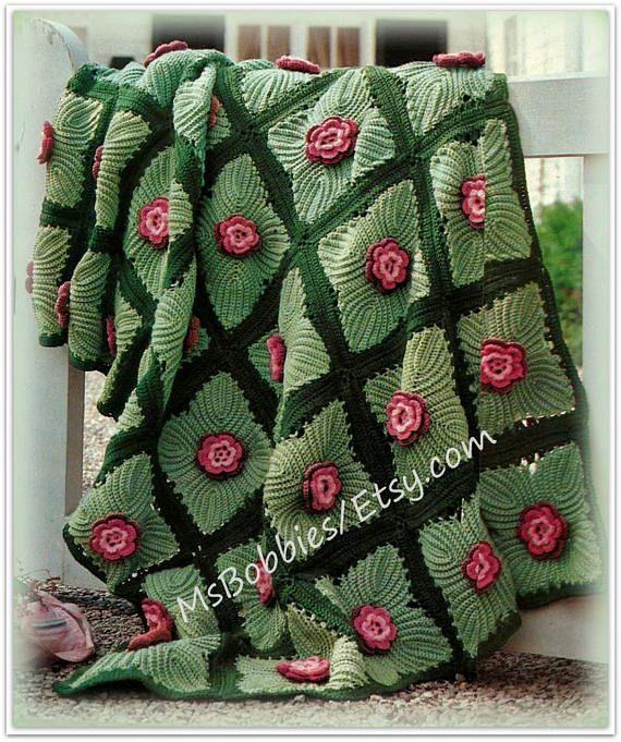 Crochet Irish Rose Afghan Pattern - Vintage Pattern - PDF CR521242 ...