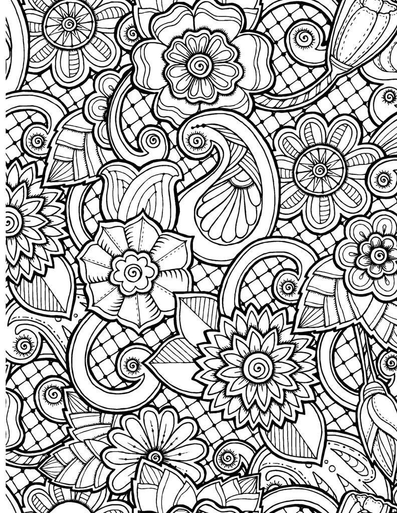 coloring.rocks! #adultcoloringpages Flower Coloring Pages for