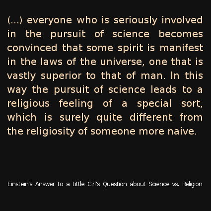 Einstein Answers a Little Girl's Question about Science vs. Religion