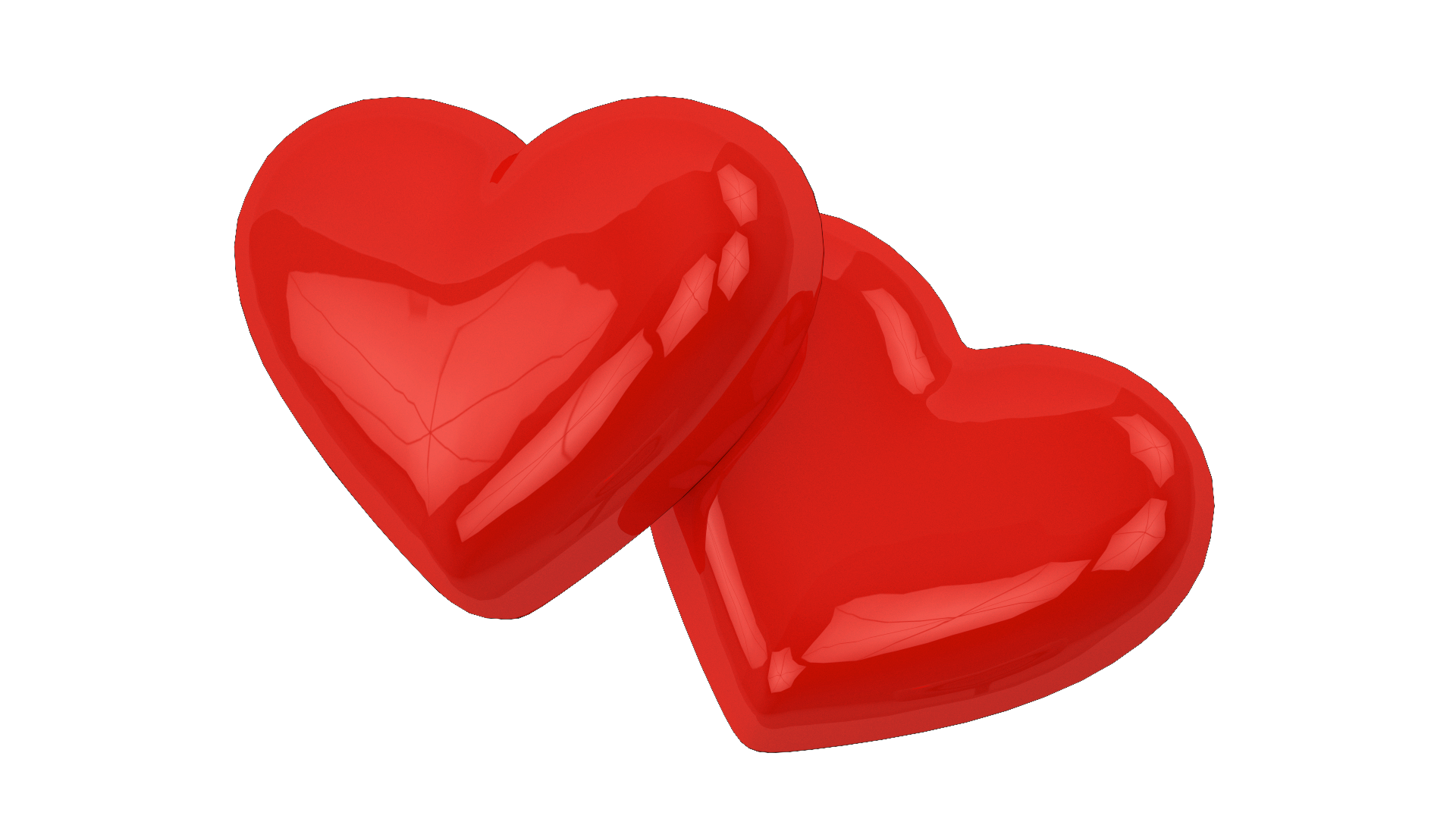 Two Love Hearts Png Image Download Love Heart Free Anime Photo Frame Gallery