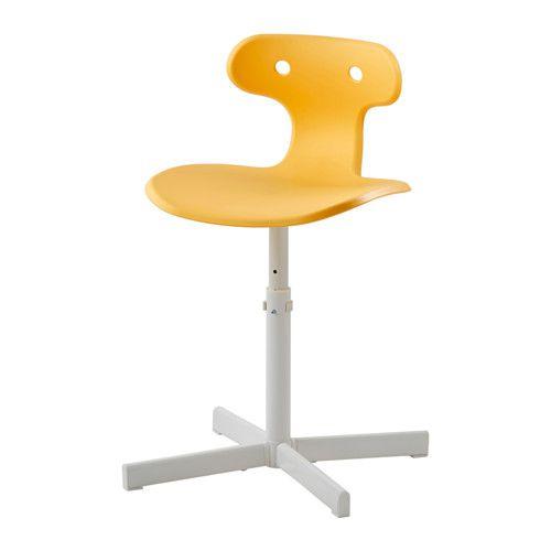 MOLTE Silla de escritorio, amarillo | Pinterest | Escritorio ikea ...