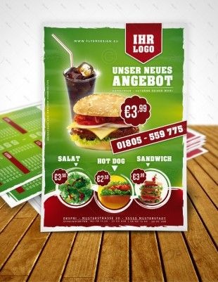 Imbiss Flyer Vorlage Hamburger Flyer Fast Food Flyer Menu