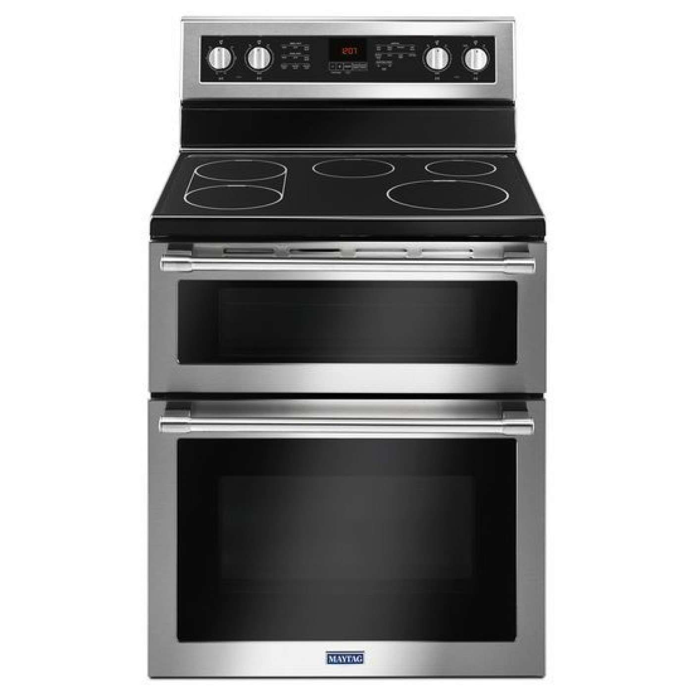 Met8800fz By Maytag Electric Ranges Goedekers Com In 2020 Double Oven Electric Range Stainless Steel Double Oven Wall Oven