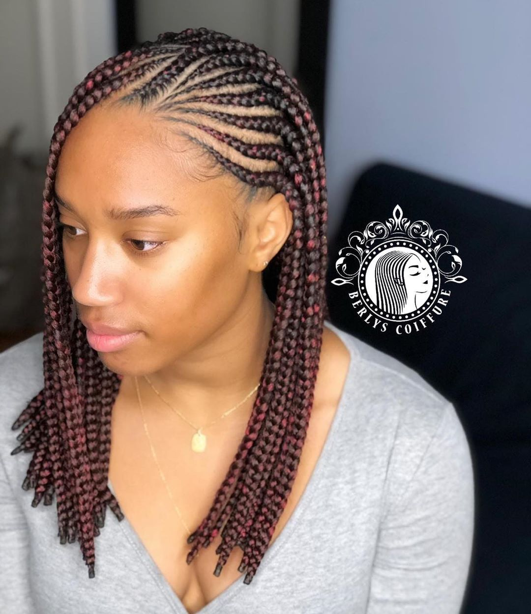 Berlys Coiffure On Instagram Cliente Satisfaite Fulanibraids 3 Paquets De Meches Xp Braided Hairstyles Braided Cornrow Hairstyles Cornrow Hairstyles