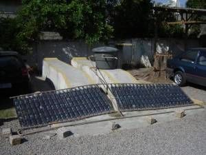 A Diy Solar Water Heater Made From Pet Plastic Bottles