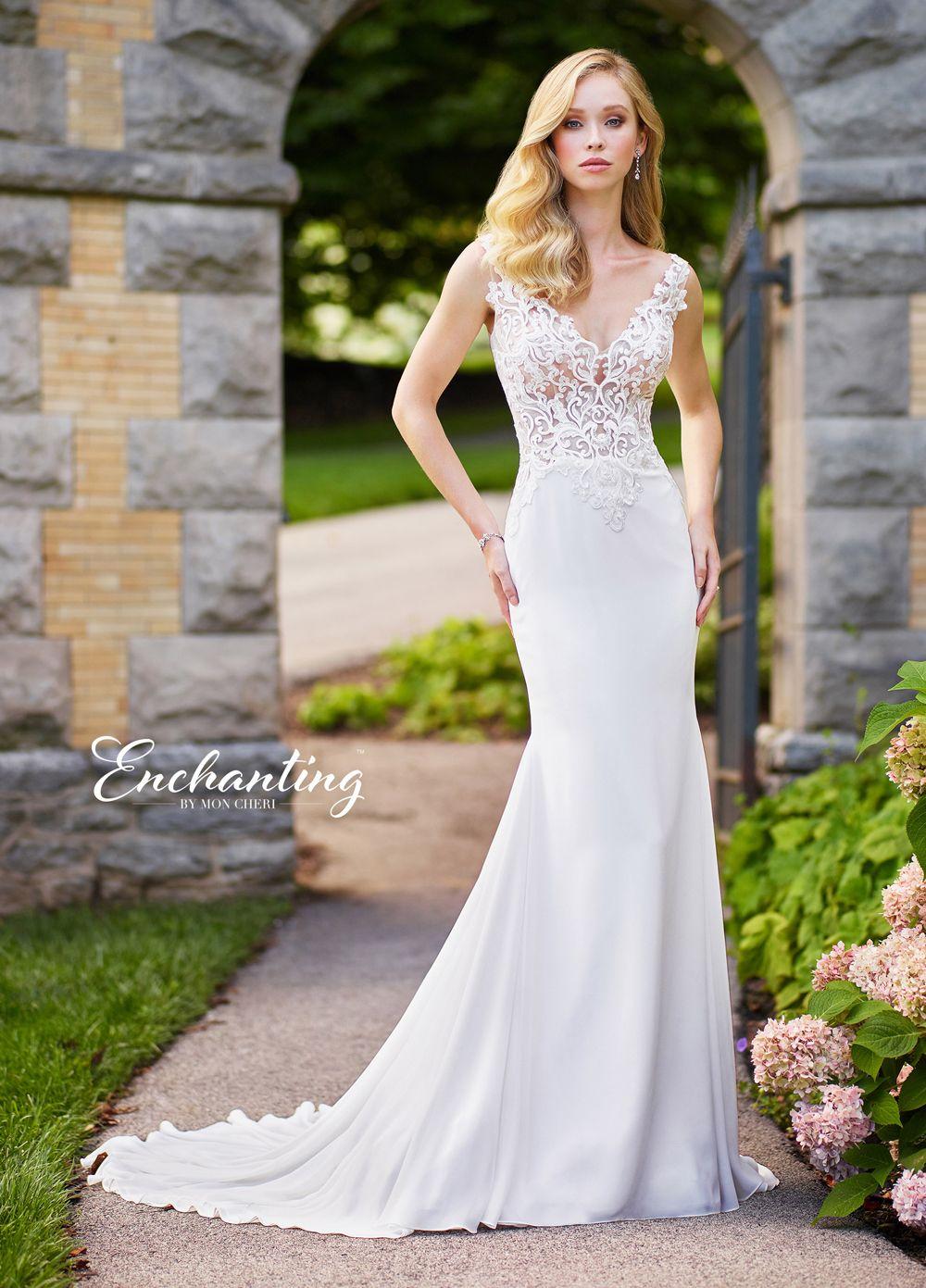 Enchanting by Mon Cheri 118138 Illusion Back Beach Wedding