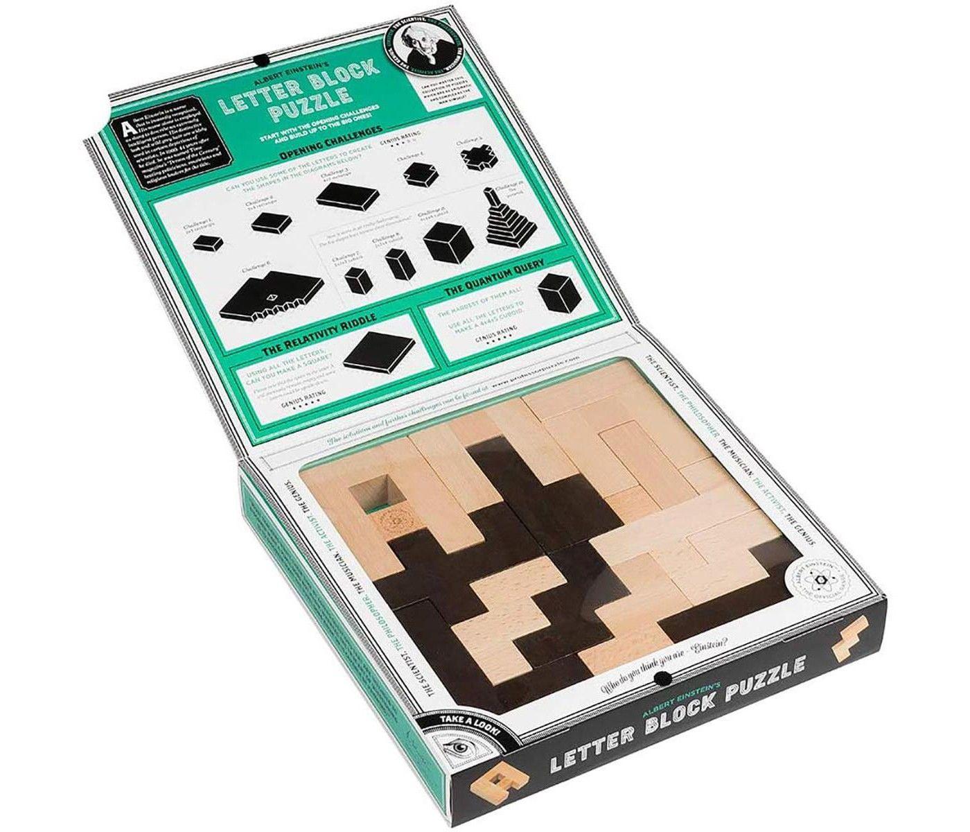 Professor Puzzle The Einstein Collection 12 Challenges Letter Block Puzzle Brain Teaser Puzzles Block Lettering Einstein
