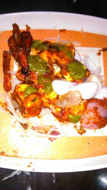 Homemade Paneer tikka :-)