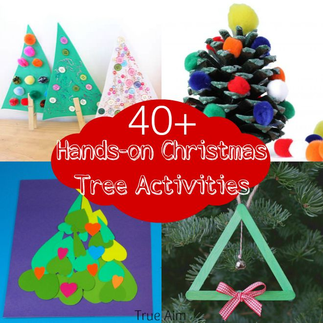 40+ Hands On Christmas Tree Activities for Kids and Mom\u0027s Library
