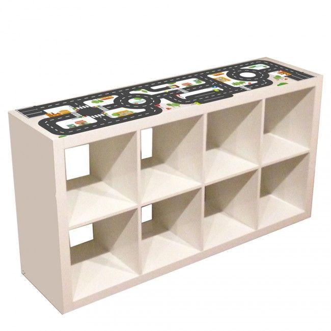 Möbelfolie Småstad für IKEA TROFAST Regal