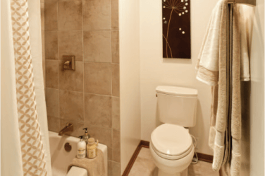 The 6 Best Paint Colours For An Almond Or Bone Bathroom Bathroom Redecorating Colored Toilets Bathroom Paint Colors