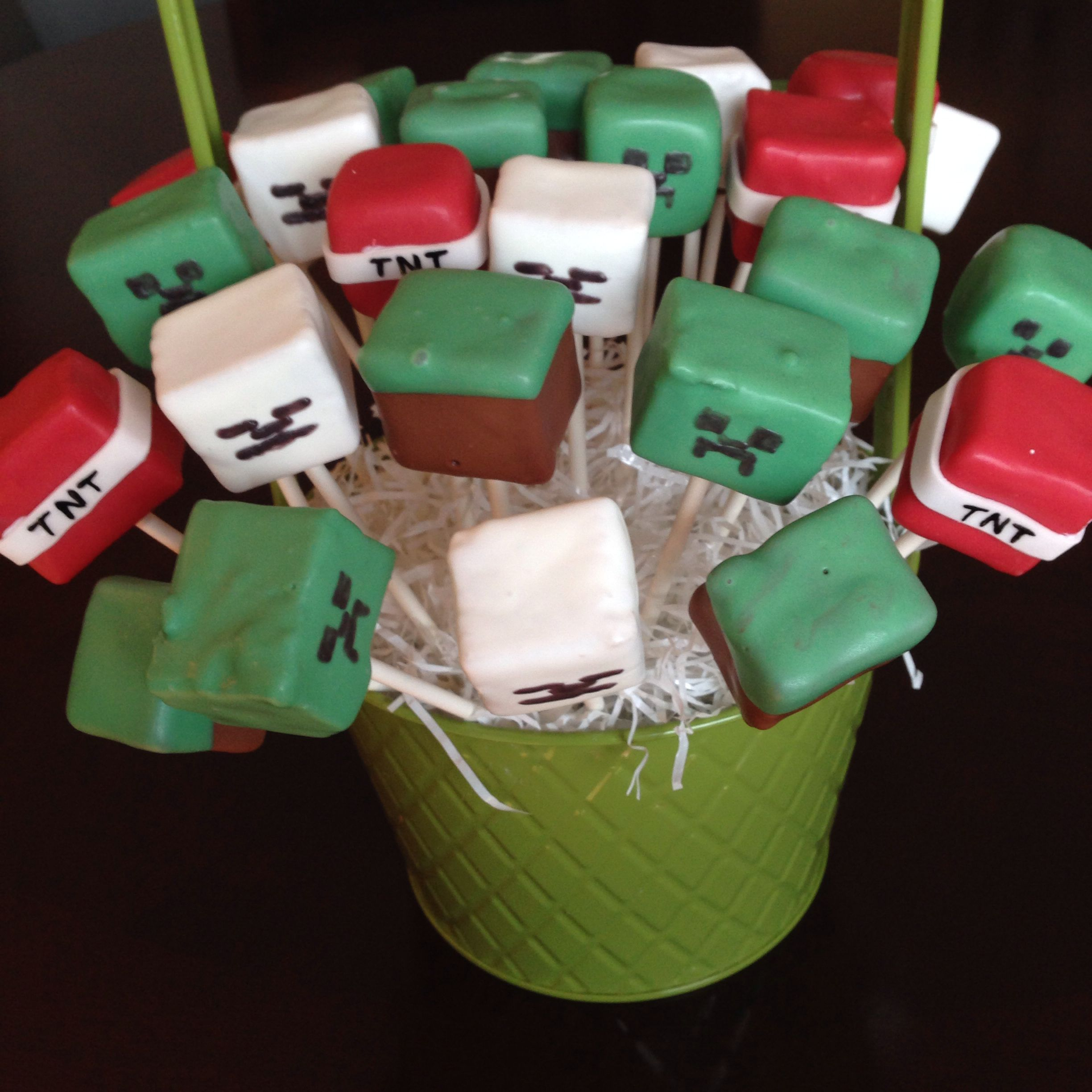 minecraft cake pops images