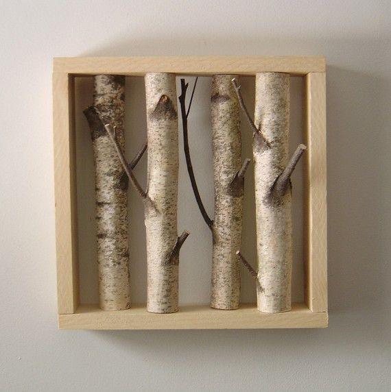 White Birch Forest - Organic Wall Art $60.00 | ART | Pinterest ...