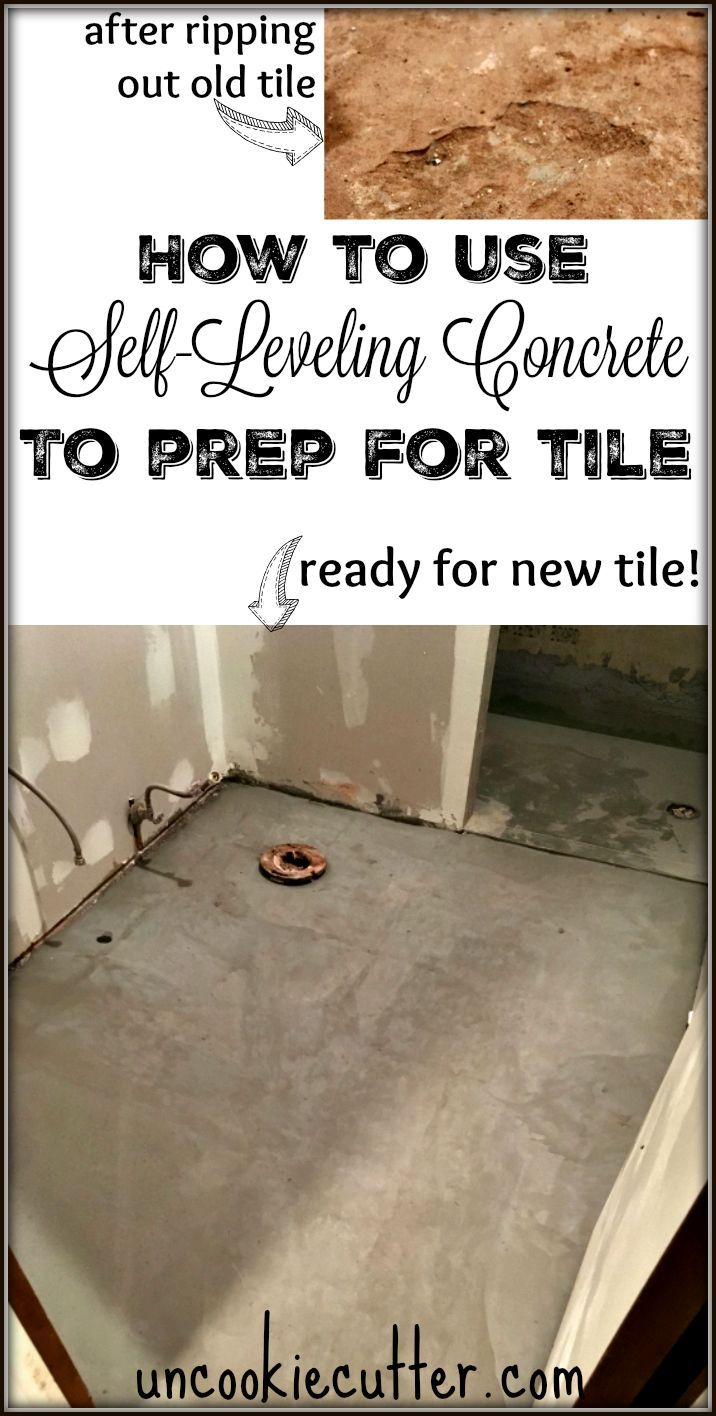SelfLeveling Concrete An Easy Tutorial Concrete Deck Steps And - Leveling bathroom floor