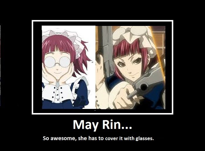 I love how May Rin looks about 12 with her glasses on and 20 without.