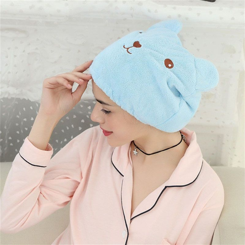 NEW  Microfiber Hair Turban Quickly Dry Hair Hat Wrapped Towel Bathing Cap