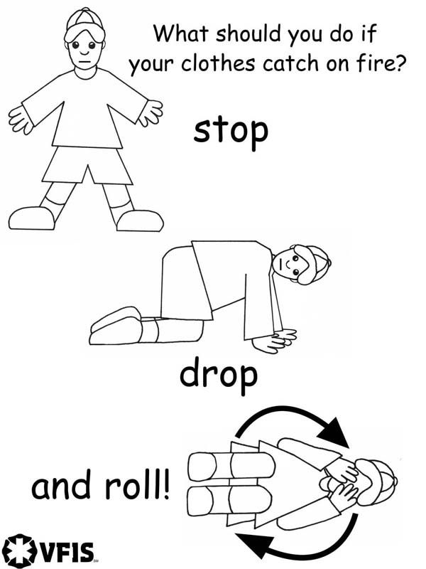 Stop Drop And Roll Fire Safety Preschool Fire Safety Week Fire