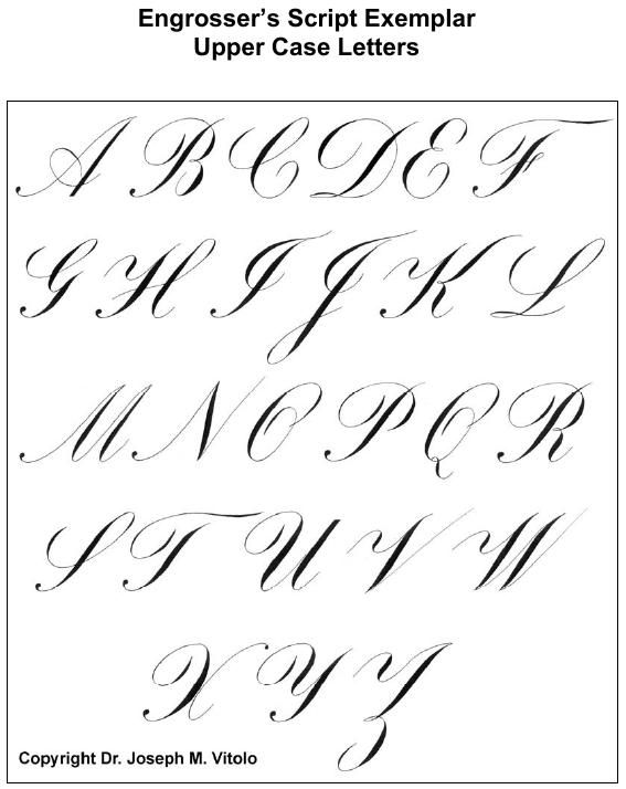 Style Spencerian Penmanship Lessons: Script In The Copperplate Style: Engrosser's Script