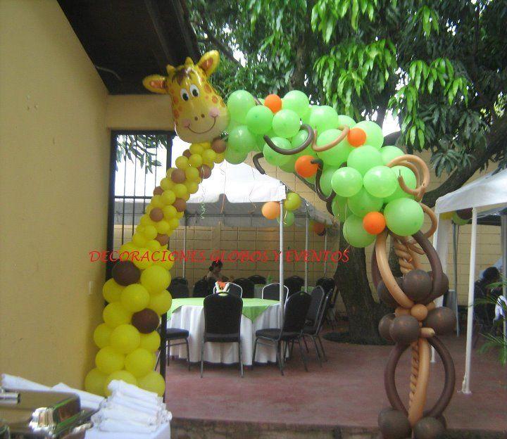 Bello arco para fiesta safari decoraciones para eventos - Decoracion con biombos ...