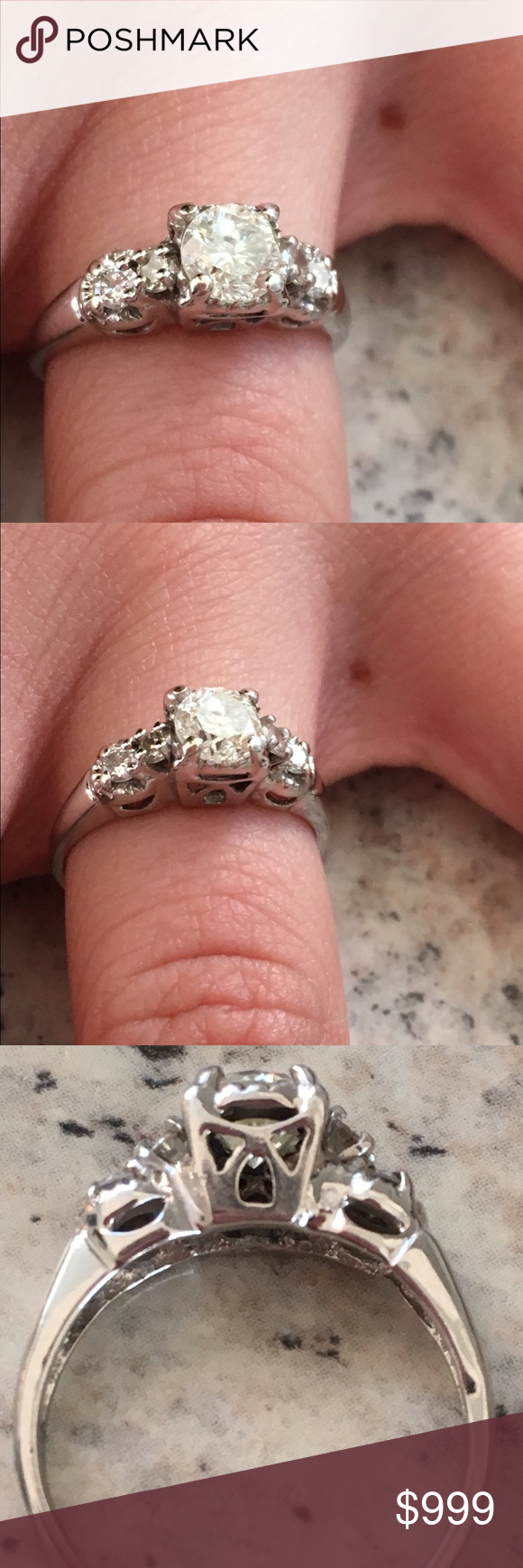 SOLD on CL Beautiful .87ct. Round Cut diamond ring | Round cut ...