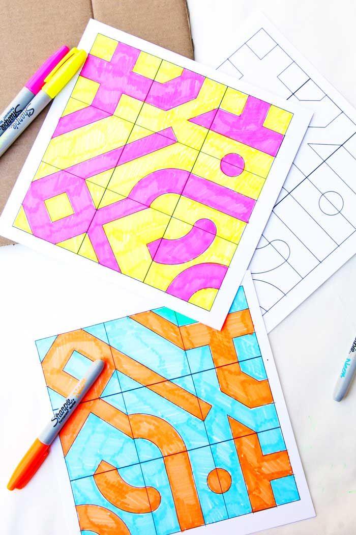 Math Game Idea Infinity Tiles Math Art Math Projects Math Games