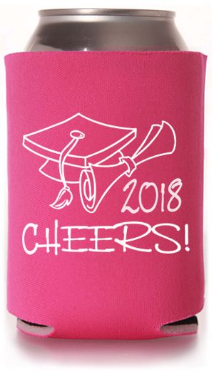 Cheers to the upcoming #graudation class! Check out our #koozie designs!