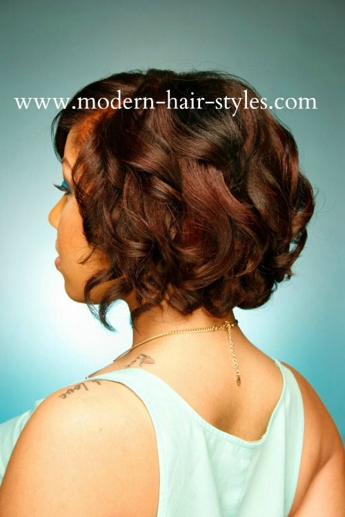 Black Short Hairstyles Bob Roller Set Spiral Curls Wash Styled