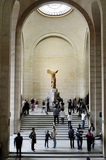 Victoria of Samotracia in the Louvre. Paris