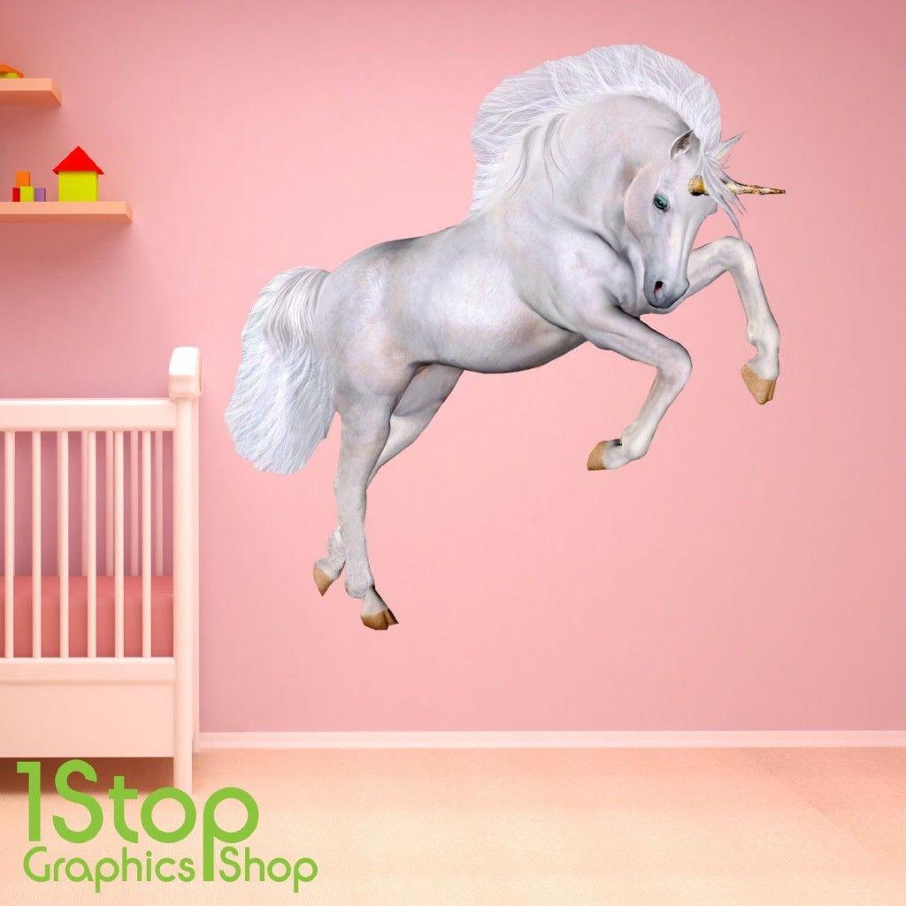 large #unicorn wall sticker http://wallartkids.com/unicorn-wall
