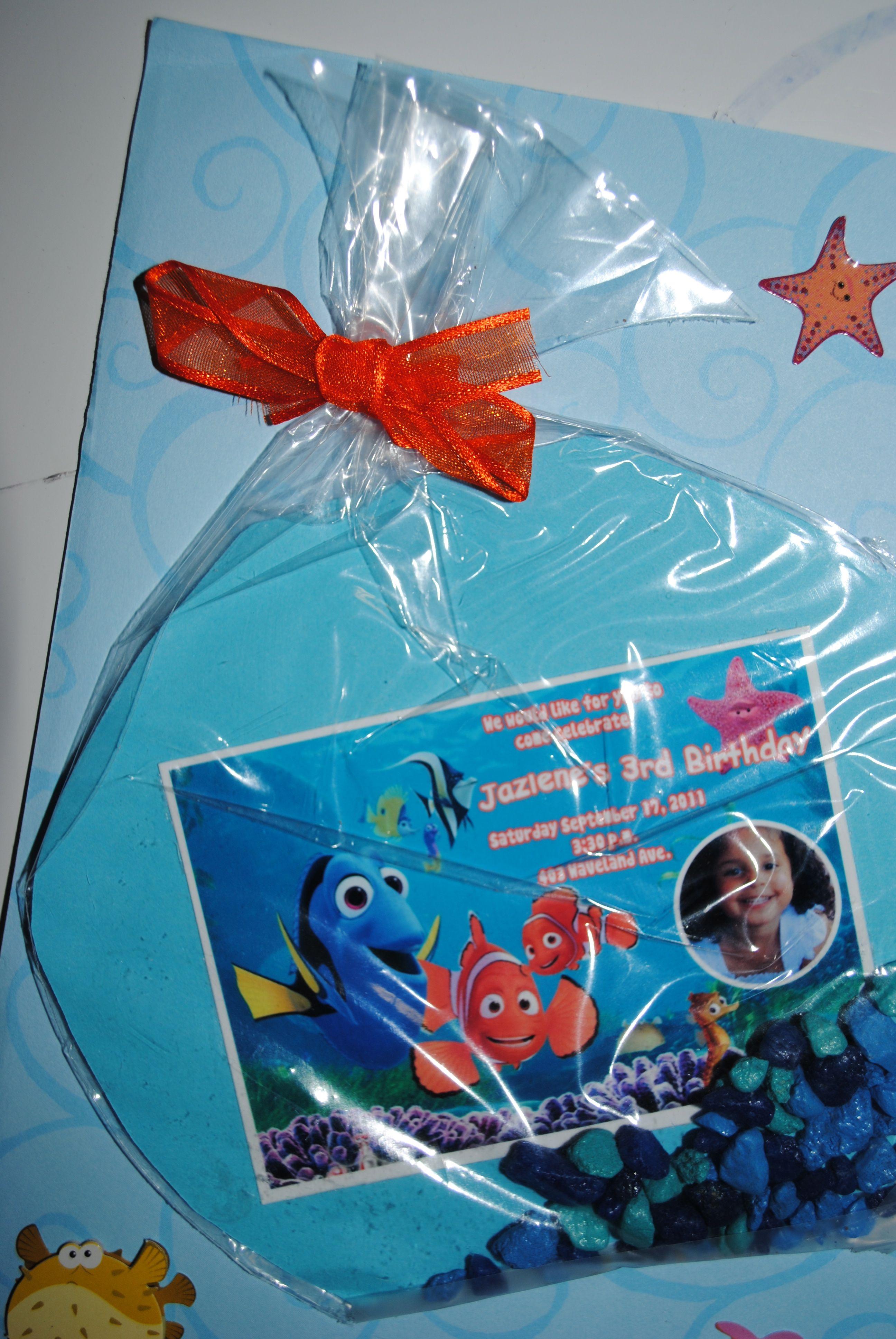 Finding Nemo Invitation Finding Nemo Party