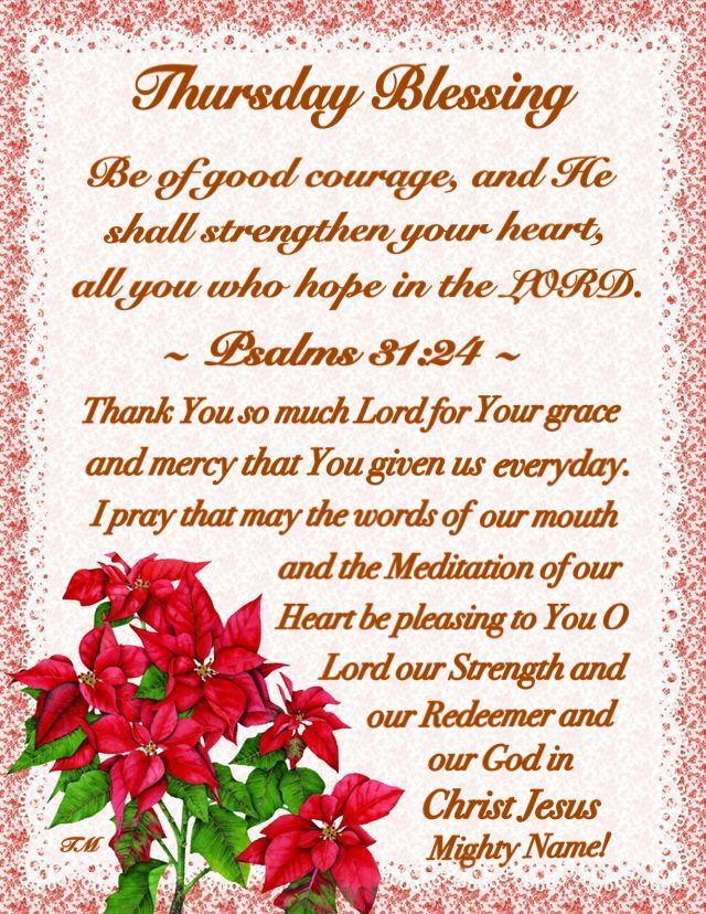 Pin by Jackie Simone on blessings /w scripture | Good ...  |Thursday Prayers From The Heart