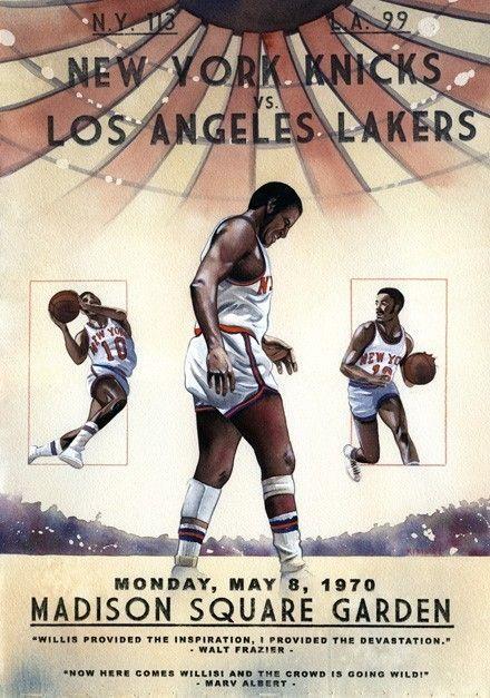New York Knicks 1970 Nba Championship Painting Print 11x17 Nba