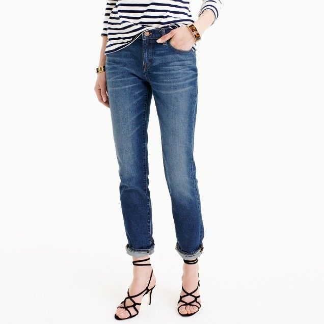 c654cb3eda Slim broken-in boyfriend jean in Hemlock wash JCrew | Virtual Closet ...