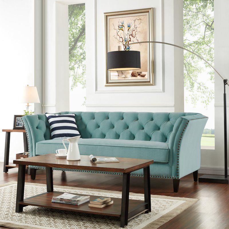 Gilmore Sofa | Velvet sofa living room, Teal living room ...