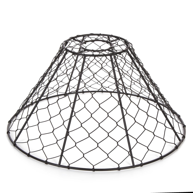 Chicken Wire Pendant Light Shade Black 12 X 6 Inches In 2020 Wire Pendant Light Diy Lamp Shade Diy Shades