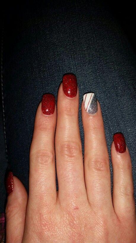 Christmas Nails! Love SNS | nails | Pinterest | Sns nails, Mani pedi ...