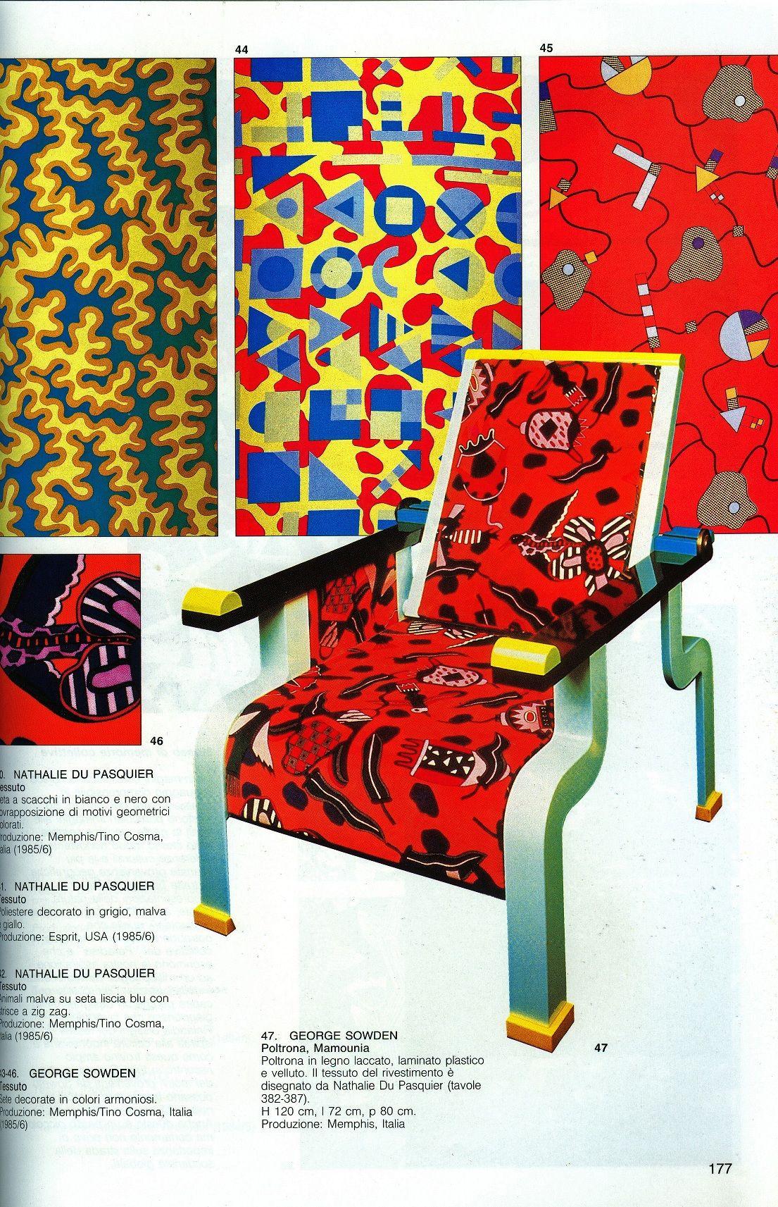 Nathalie Du Pasquier Y George Sowden A Os Ochenta Los Textiles Y  # Muebles Postmodernos