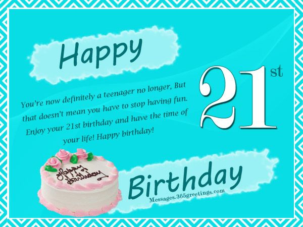 21st Birthday Wishes, Messages and Greetings   Small ...
