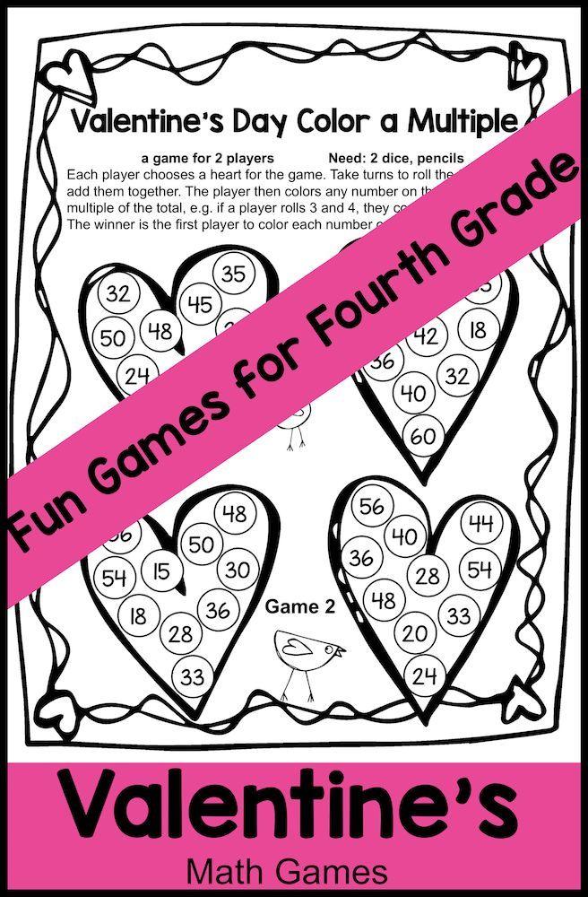 Valentine\'s Day Activities: Valentine\'s Day Math Games Fourth Grade ...