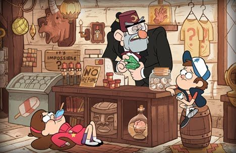 "Gravity Falls - ""an American animated television series created by Alex Hirsch (former writer for The Marvelous Misadventures of Flapjack and Fish Hooks). The first episode aired as a preview on June 15, 2012 and the series officially debuted on June 29, 2012."""